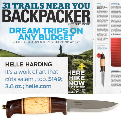 Helle Harding featured in Backpacker's Holiday Gift Guide