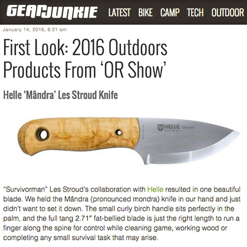 Gear Junkie Gives Us a First Look at the New Helle Mândra Knife