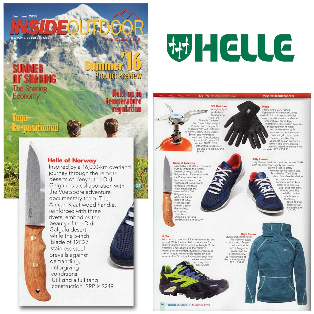 Helle's Didi Galgalu Knife gets reviewed by Inside Outdoor Magazine